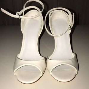 0aed70cb1f6 Women s White Zara Ankle Strap Heels on Poshmark